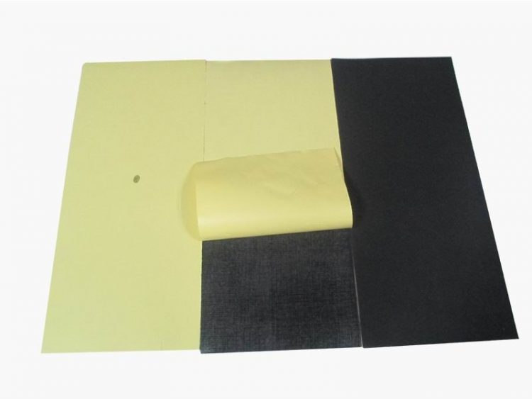 mouse pad material with adhesive