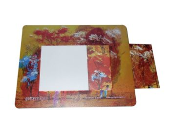 Mouse pad with picture frame,EVA photo frame mouse pad