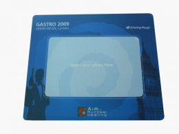 Mouse pad with photo frame