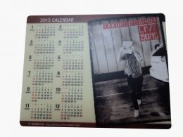 Mouse pad with calendar