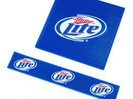 Embossed logo bar mats for promotion