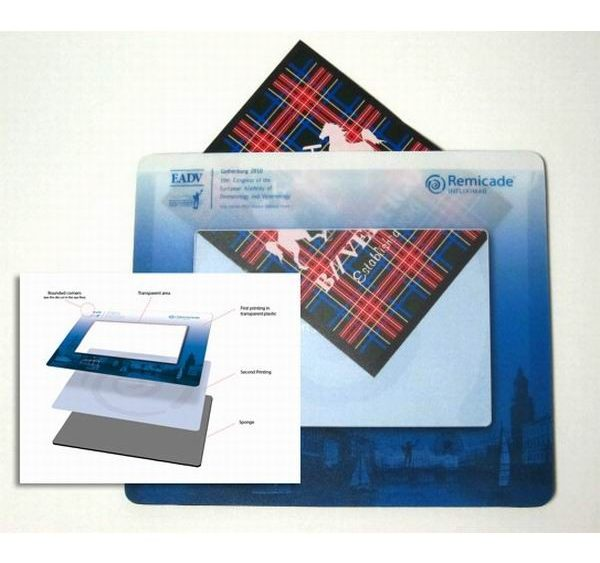 Photo mouse pad with logo printing