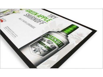 Rubber backed bar mat