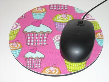 Round Fabric Rubber Mouse Pads For Promotional Gift, Anti Slip