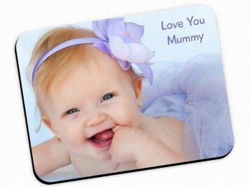 Custom Natural Rubber Promotional Mouse Pads With Smooth Fabric Surface