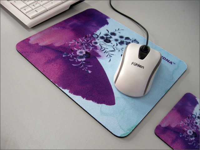 Anti-Slip Natural Rubber Mouse Pad With Soft Cloth For Promotion