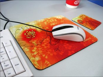Non Skid Natural Rubber Mouse Pad, Customized Cloth Mouse Mats