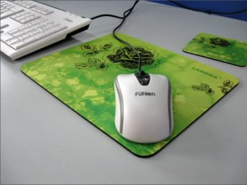 Natural Rubber Mouse Pad, Smooth Fabric Computer Mouse Mat 21x18cm