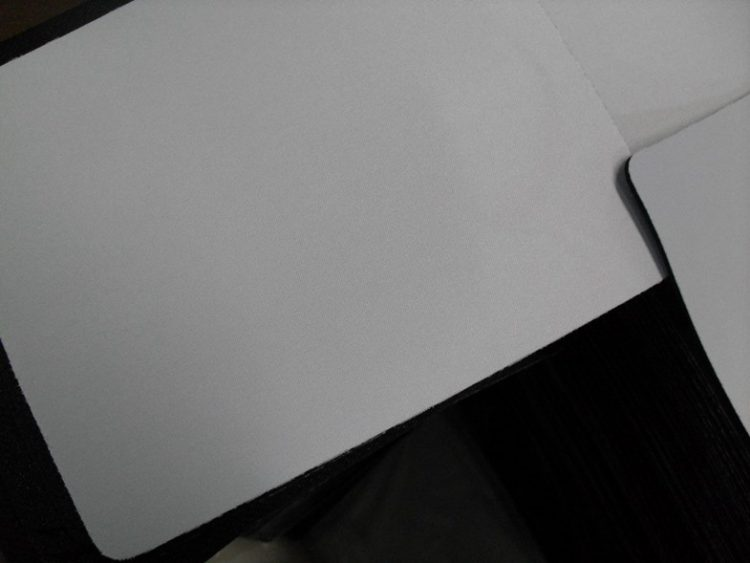 Blank Mouse Pad Roll Customized Size / Shape With Rubber And Polyester