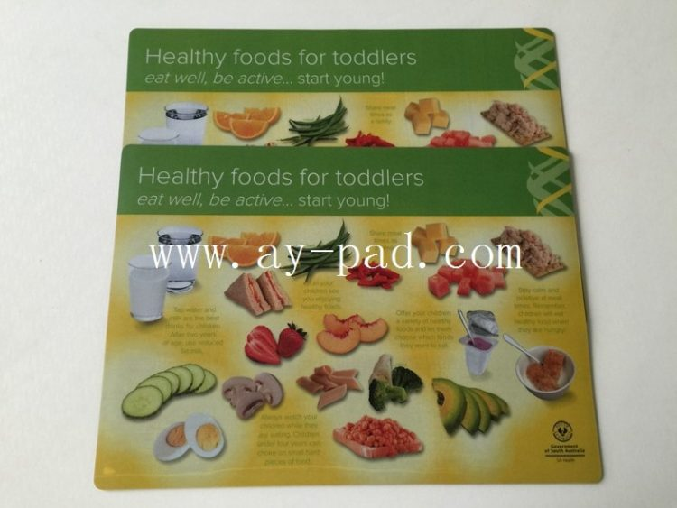Eco-friendly Anti-slip Rubber Desk Pad , Plastic PVC Placemat