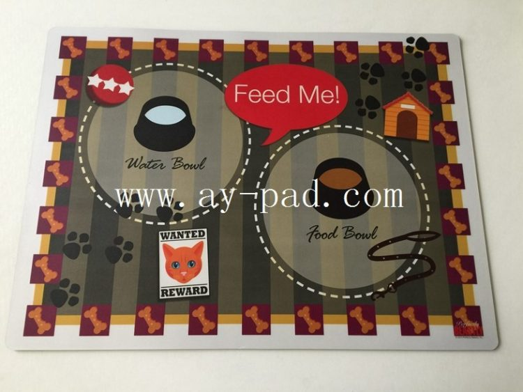 Fashion custom Pvc Laminated Placemats / EVA decrative desk pad