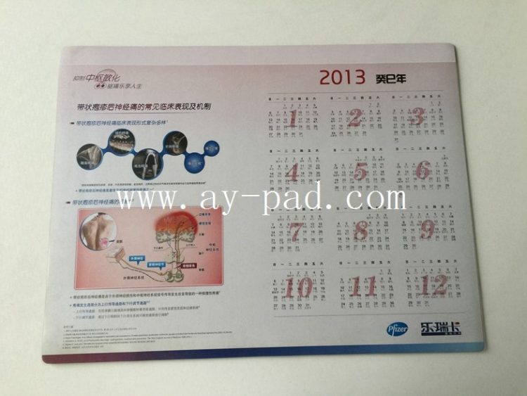 Promotional Desk Pad Calendars Customized with Company Logo & Information Printing