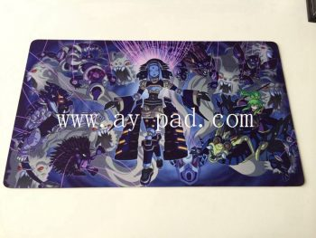 Heated,Game images Style and Rubber Material Table Play Mat