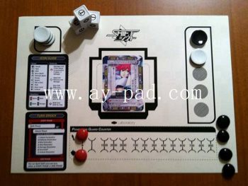 Non-slip Rubber Backing Table Game Play Mats For Card Playing