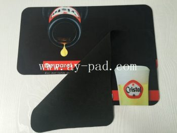 Tandard Imperia Vodka Black Rubber Bar Mat Gutter