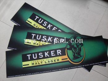 Non-Toxic Rectangular / Square Rubber Bar Runner Colorful Nitrile Mat