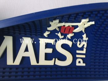 Smellless Non-Toxic Large PVC Runner Personalized Bar Mat