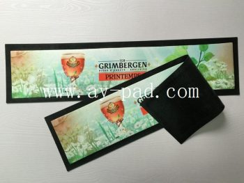 Customized High Quality Rubber Printed Nitrile Mat Fabric Bar Runner