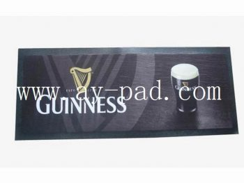 High Quality ,Anti-slip Foam Rubber Cloth Customized Bar Runner Mat