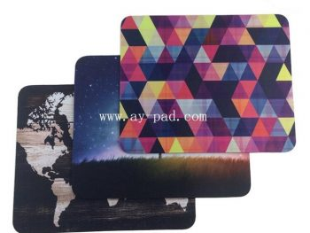 AY Rubber Fabric Material Promotion Sublimation Custom Printed Logo Mouse Pad