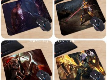 AY high quality wholesale personal rubber fabric mousepad 3d
