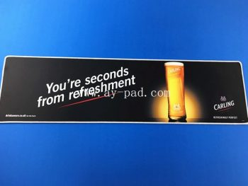 Soft drinks best whiskey branded promotion printing rubber bar mat
