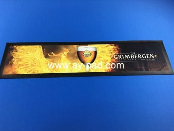 Wholesale OEM custom color logo rubber nitrile bar mat