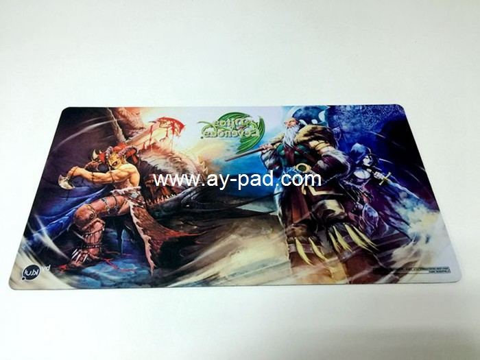Anti slip thin customized wholesale China game mouse pad mat yugioh custom playmat