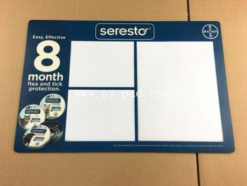 A3 oem logo full color printed pvc insert counter mat