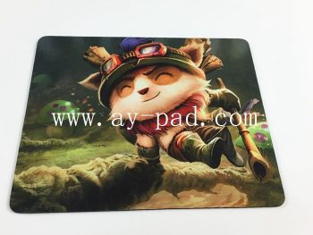 AY Eco-Friendly Sublimation Mat Games Foam Custom Dota 2 Mouse Pad