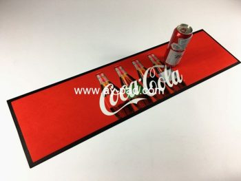 AY Custom Coca-cola Anti Slip Mat Bar Mat Mats With Logo Rubber Bar Runner For Beer Advertisement