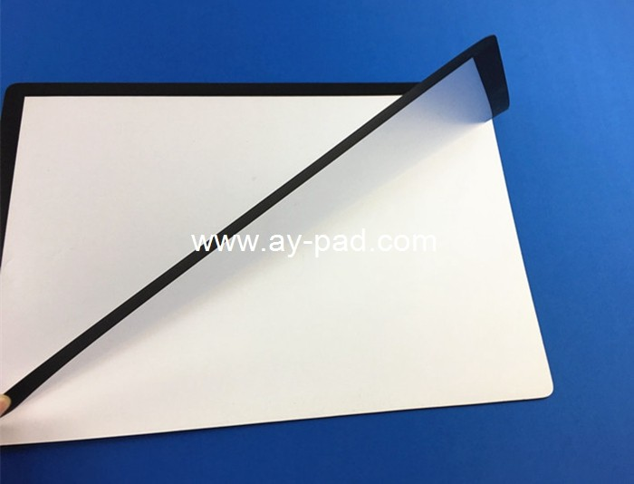 AY black frame PVC desktop window insert counter mat