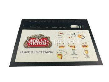 Custom Rubber Drinking Non Woven Fabric Beer Bar Mat For Promotion