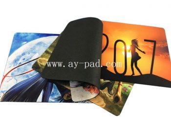 AY Full Color Printing Non-Skid Polyester Rubber Pad